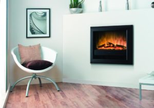 Bach wall mounted electric optiflame fire-1