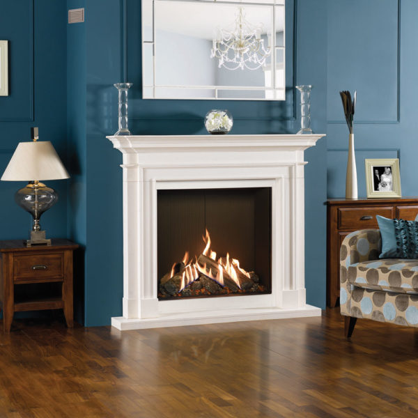 Reflex-75T-Edge-with-Black-Reeded-lining-Sandringham-limestone-mantel-matching-slip-set-LI