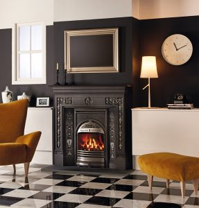 Combination-Convector-highlight-polished-with-polished-Urn-design-cast-iron-panels-and-Gazco-Logic-gas-fire-lb