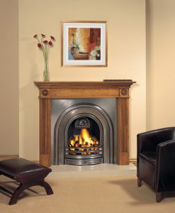 Decorative-Arched-Insert-Fully-Polished-Georgian-Antique-Pine-Mantel