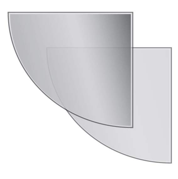 Quadrant-glass-hearth