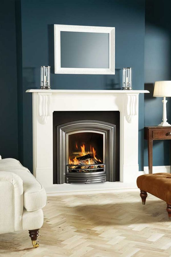Stovax-Alexandra-in-Highlight-Polished-finish-with-Vicotirna-Corbel-mantel-in-limestone-lb