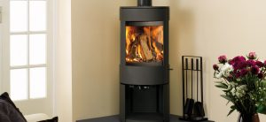 Dovre-Astroline-3CB-with-wood-store-Matt-Black-mi