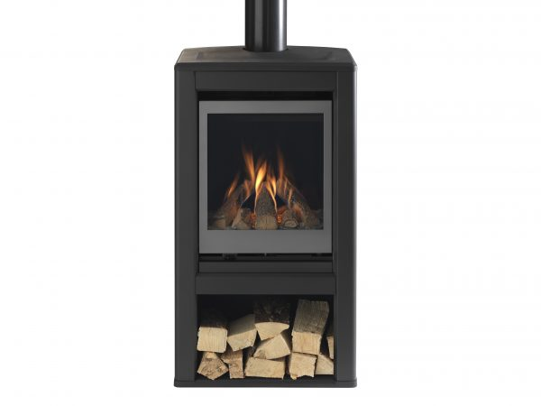 Valor Inspire Large Stove solus front on with logs