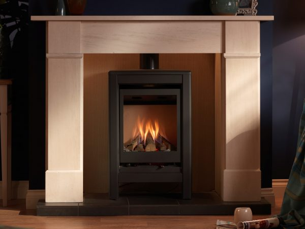 Valor Inspire Medium Stove Lifestyle front Cropped