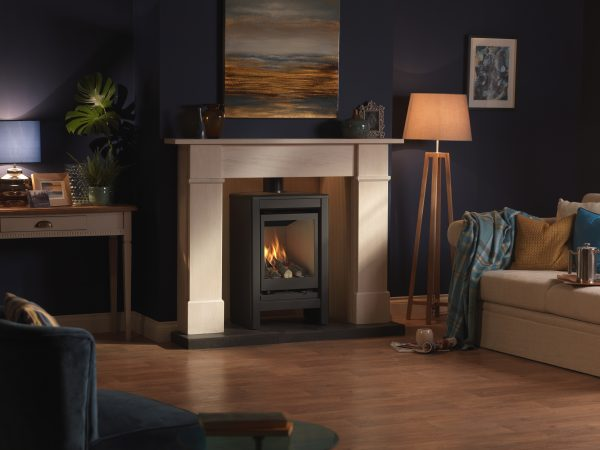 Valor Inspire Medium Stove Lifestyle right angle