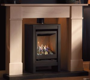 Valor Inspire Medium Stove Lifestyle right angle gif